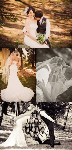 Bride and groom photos in Rustic and Earthy Wedding in the Mountains