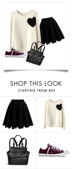 """""""Monday street wear"""" by anggahp on Polyvore featuring Chicwish, WithChic, Givenchy and Converse"""