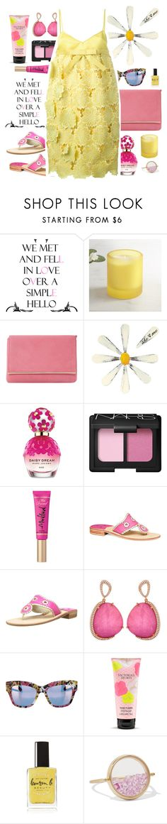 """She Loves You La La La"" by rose-dujour on Polyvore featuring Pier 1 Imports, Dune, Letter2Word, Marc Jacobs, NARS Cosmetics, Too Faced Cosmetics, Jack Rogers, Dolce&Gabbana, Victoria's Secret and Lauren B. Beauty"