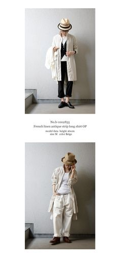 【楽天市場】【送料無料】joie de vivre リネンアンティークストライプロングシャツワンピース:BerryStyleベリースタイル