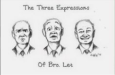 The many expressions of a brother we all love, Brother Lett, drawn by Crystal Hill from Oregon, USA.