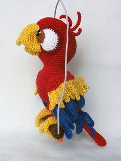 For sale: Parrot. Chili the parrot amigurumi crochet pattern by IlDikko