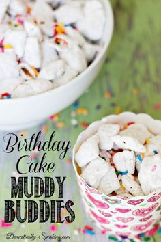 Birthday Cake Muddy Buddies ~ a great treat for a party or anytime