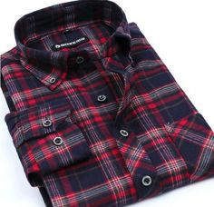 This sporty ultra-masculine, plaid design, flannel shirt is a light, breathable, long-sleeve option, perfect for casual weekend layering when the temperatures are low. Sizes run small. Please check th