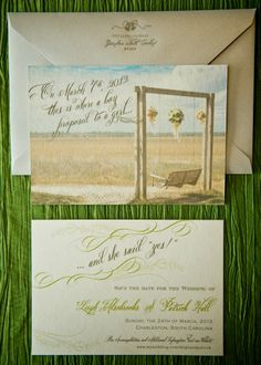 Save the Dates by Sixpence Press | Charleston SC
