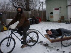 Simple no weld bike trailer