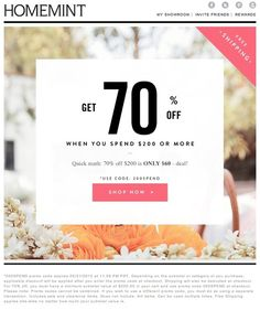Simple and elegant typography  HomeMint email blast
