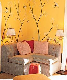 Warm yellows are welcoming and look great on walls. Cool yellows (those with blue undertones) can feel stark and are best for smaller furnishings or accessories.