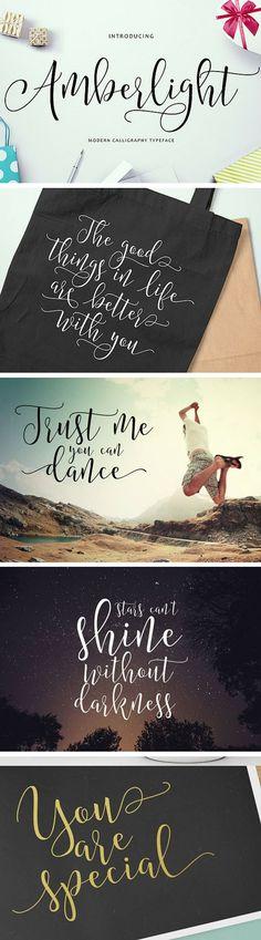 Beautiful script calligraphy font