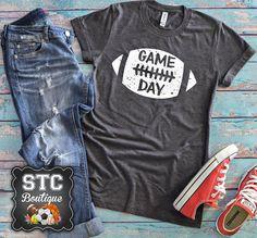 Game Day Football Shirt, Ladies Football Shirt, Cute Football Shirt for Women Football Mom Shirts, Football Cheer, Football Outfits, Football Tshirt Designs, Football Moms, Football Design, Football Season, College Football