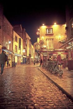 Temple Bar, Dublin. A little further down on the left is an amazing restaurant called Elephant and Castle If you ever get a Chance to visit ...