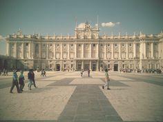Plaza del palacio real de Madrid