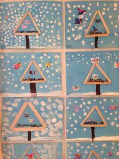 New Year's Crafts, Bird Crafts, Diy And Crafts, Arts And Crafts, Winter Activities For Kids, Winter Crafts For Kids, Diy For Kids, Winter Art, Winter Theme