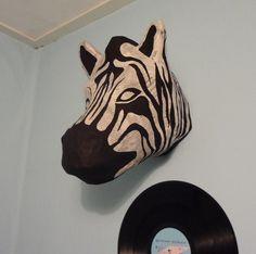 Paper Mache Zebra Head (How-To Instructions)