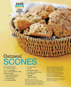 Oatmeal Scones Recipe