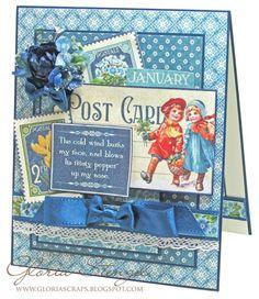 Graphic 45 - Gloria Stengle January Card