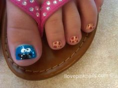 Cookie Monster toes (super cute for a little girl!)