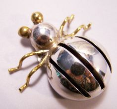 Vintage Sterling Silver Mexico Bug Insect by GretelsTreasures, $60.00