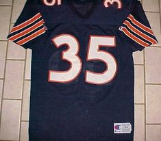 Chicago Bears  35 NFL NFC Central Champion Blue Orange White Vintage Jersey  44  Champion  ChicagoBears 0339ae745