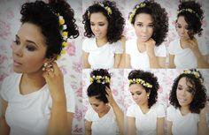 Sugestões de penteados com coroa de flores