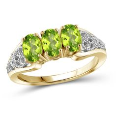 Jewelonfire 1.44 CT Peridot Ring in SS 12461 ($31) ❤ liked on Polyvore featuring jewelry, rings, green, jewelry & watches, cocktail rings, green peridot ring, green ring, green jewellery and green cocktail ring