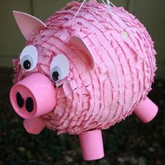 BabyZone: BabyZone: How to Make a Piñata - change it to green for a Bad Piggy/Angry Birds pinata