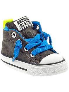 Converse Chuck Taylor All Star Street (Infant/Toddler) Little Boy Outfits, Toddler Outfits, Baby Boy Outfits, Kids Outfits, Toddler Boy Fashion, Little Boy Fashion, Baby Boy Shoes, Boys Shoes, Little Man Style