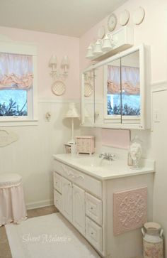 Stunning shabby chic bathroom decoration ideas (34)