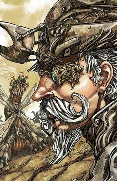 Il·lustració de Sergio Acuña Pinzellades al món: Quixot il·lustrat / Quijote ilustrado / Don Quixote illustrated