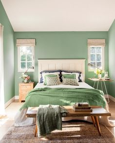 Discover recipes, home ideas, style inspiration and other ideas to try. Bedroom Green, Bedroom Decor, Elegant Homes, Home Office Design, Fashion Room, Small Living, My Room, Colorful Interiors, Home Goods