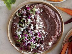 Black Bean Hummus with Queso Fresco
