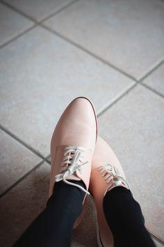 pink pastel derbies Fendi