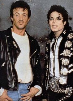 """Michael with Sylvester of """"Rocky"""""""
