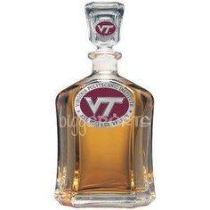 Virginia Tech Hokies Glass Capitol Decanter (Spirit Holder) 24 oz