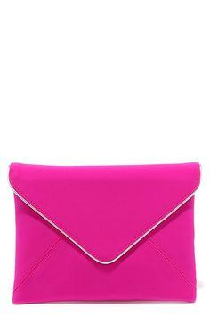 Sign Me Up Fuchsia Envelope Clutch at Lulus.com!