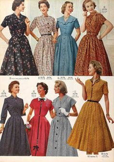 Snapped Garters: 1957 Fashions -- IN COLOUR!
