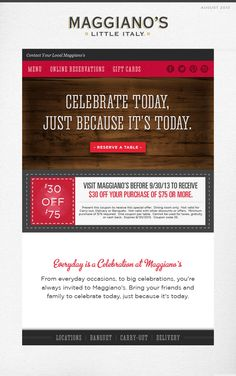 graphic regarding Maggiano's Printable Coupon $15 Off $45 called 12 Great Discount codes illustrations or photos inside 2013 Coupon, Coupon codes, Conserving economical
