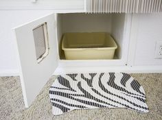 Built in litter box... we've built the cabinet for this purpose, but someday it would be great to have a built-in area.