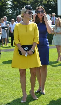 Zara Phillips Tindall, August 1, 2013 | The Royal Hats Blog-Mum-to-be Zara attended Ladies' Day at Goodwood race course, Chirchester