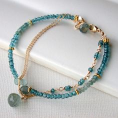 Seaside Gemstone Bracelet. Multi strand by lindatrentjewelry