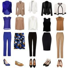 I like the level of professionalism, the blue, the flats.  I think I don't like this much beige.