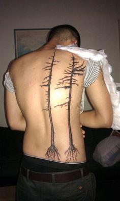 spruce tree tattoos