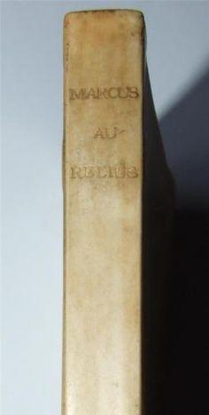 Marcus-Aurelius-Antoninus-to-Himself-1902-Vellum-Binding-Philosophy-of-Life