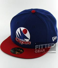 San Diego Clippers RB WH RD Blue Vintage Retro New Era 59Fifty Fitted Hats  Caps New 91c2c03e611d