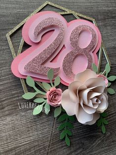 Diy Cake Topper, Frozen Cake Topper, Birthday Cake Toppers, Paper Flower Wall, Paper Flowers, Boho Cake, Smash Cake Girl, Floral Cake, Pug Cake
