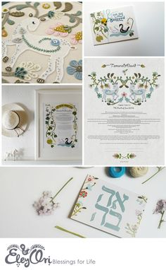 Ketubah Wedding Certificate- A beautiful traditional marriage contract. Wedding Vows, Wedding Cards, Our Wedding, Wedding Invitations, Wedding Certificate, Marriage Records, Home Wall Decor, Fine Art Prints, Greeting Cards