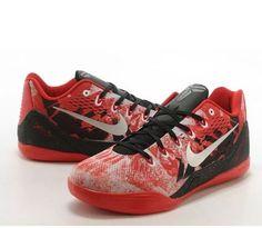 NEW Sz 12 Nike Kobe lX PRM Basketball Gym Red Metallic Silver Crimson 652908-606