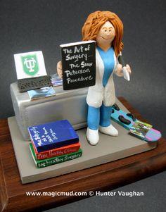 Female Surgeon Figurine Customized Lady Doctor Graduation Gift Personalized