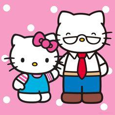 Happy birthday to Hello Kitty's Papa, George White! Hello Kitty Vans, Hello Kitty Clothes, Sanrio, Anime Rules, Hello Kitty Pictures, Hello Kitty Wallpaper, Love My Family, Samar, Little Twin Stars