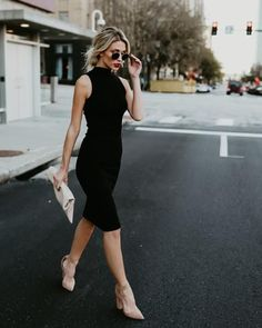 Our She's All That Midi Dress is simply stunning in a body con silhouette and midi length. Wear this sleeveless ribbed dress with bold accessories for a modern Elegant Outfit, Classy Dress, Classy Outfits, Casual Outfits, Fashion Outfits, Classy Chic, All Black Outfit Casual, Little Black Dress Classy, Chic Dress